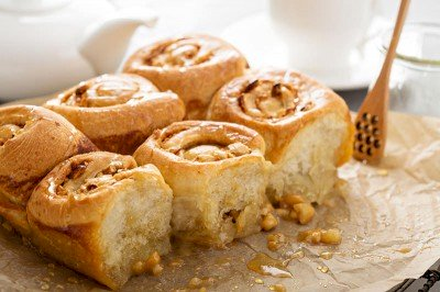 Cinnamon Honey Glazed Sticky Buns