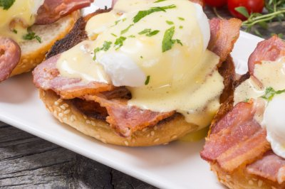 Honey Bacon Benedict