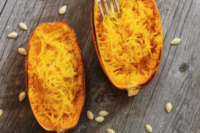 Roasted Spaghetti Squash with Honey Butter